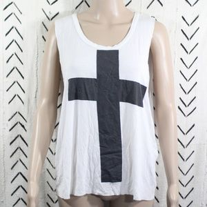 Missguided Cross Symbol Tank Top Size Small